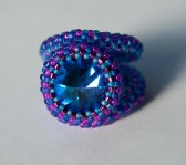 Heliotrope cocktail ring