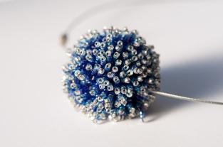 Ice planet beaded bead choker - Sarah Cryer Beadwork