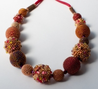Planets necklace - Sarah Cryer Beadwork
