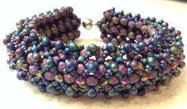 Sabine Lippert's baroque dimensional bracelet, beaded by Sarah Cryer