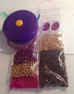 Gold Iris and Fuschia Materials Pack - waiting for bicones!