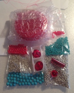 A slightly different red, silver and turquoise materials pack!