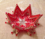 Fortuneteller Bowl - Contemporary Geometric Beadwork, beaded by Sarah Cryer Beadwork