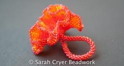 Nasturtium Ring by SarahCryerBeadwork