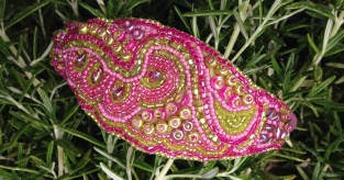 Bead embroidery by Sarah Cryer Beadwork