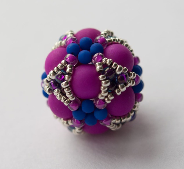 Cluster Beaded Bead - Gwen Fisher - Beaded by Sarah Cryer Beadwork