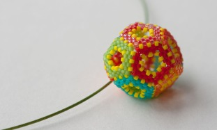 Hollow Dodecahedron - Sarah Cryer Beadwork