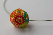 Hollow Dodecahedron - Sarah Cryer Beadwork.