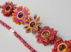 National Beading Week 2015 Secret Beadalong - designed by Jean Power, beaded by Sarah Cryer Beadwork