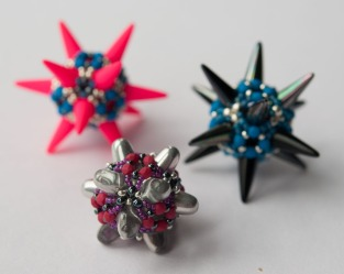 Spikes Beaded Beads - Sarah Cryer Beadwork