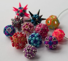 Some beaded beads