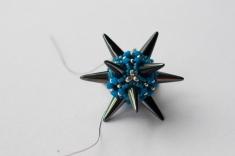 Great Balls of Spikes - Gunmetal & Turquoise - Sarah Cryer Beadwork