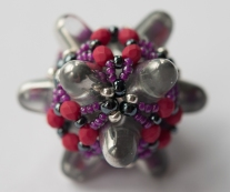 Great Balls of Gumdrops - Bruised Gunmetal - Sarah Cryer Beadwork