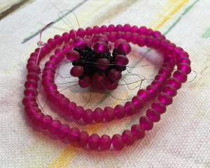 Affinity Bangle - designed by Jean Power, beaded by Sarah Cryer Beadwork