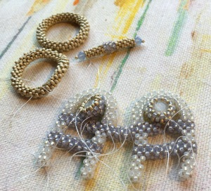 Arches - in progress - Sarah Cryer Beadwork