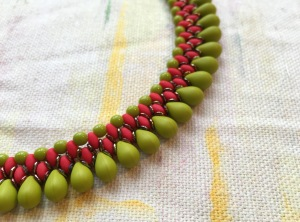 Collar - in progress - Sarah Cryer Beadwork