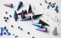 Dark Blue Iris Spikes