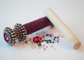 SOLD OUT - Fuchsia, Navy & Silver