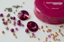 Plus - Fuchsia & Dark Gold